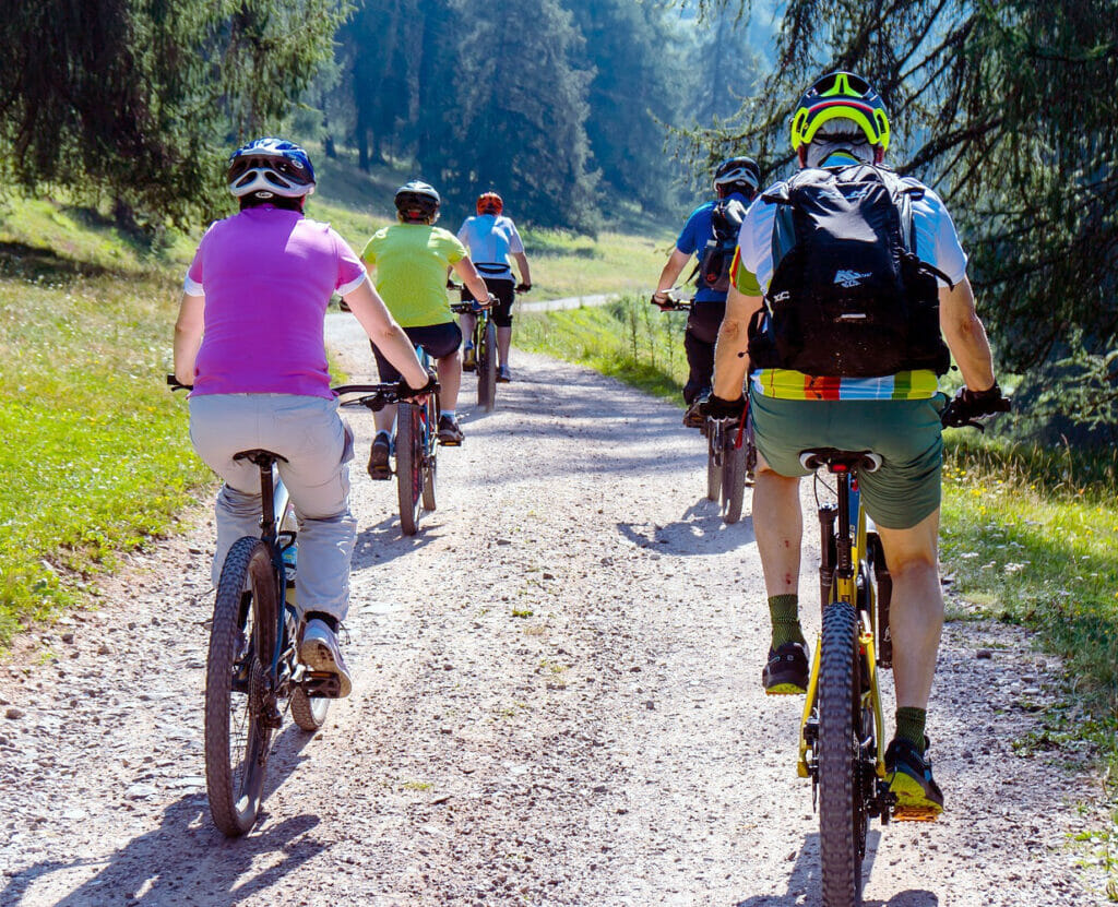 ebike riders in the countryside